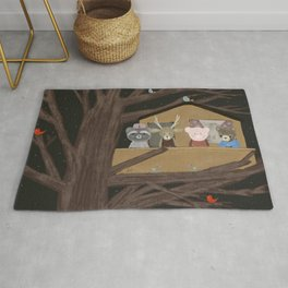 the little treehouse Rug