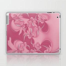 Pink Fractal Flowers Laptop & iPad Skin