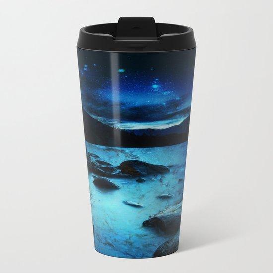 Magical Mountain Lake Metal Travel Mug