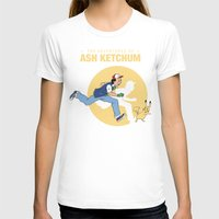 tintin T-shirts featuring THE ADVENTURES OF ASH KETCHUM by Akiwa