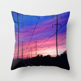 Bristol Tracks Throw Pillow