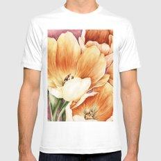 Tulips Mens Fitted Tee White MEDIUM