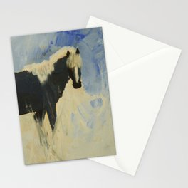Horse in snow Stationery Cards