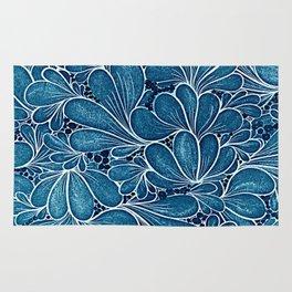 Blue leaf Rug