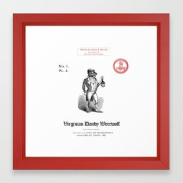 Smith's Flora and Fauna of North America - Plate 4 - The Virginian Dandy Werewolf Framed Art Print