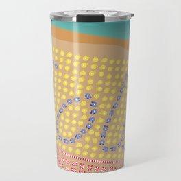 Sole / Sun Italy Beach Umbrellas - Aerial Italian Travel Mug