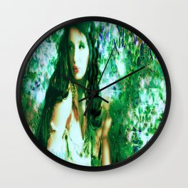 Fairy WOOD NYMPH AT THE LAKE LADYKASHMIR Wall Clock