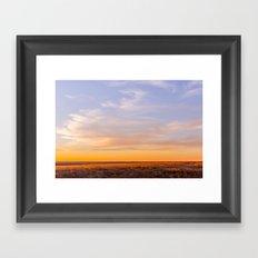 Golden South Dakota Sunset Framed Art Print