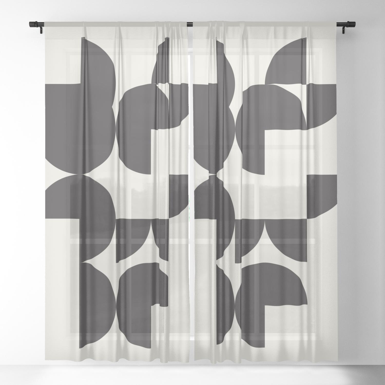 Wall Art Print Apartment Decor Living Room Modern Art Retro Print Wall Art Print Geometric Abstrac Sheer Curtain By Bluepinkpanther