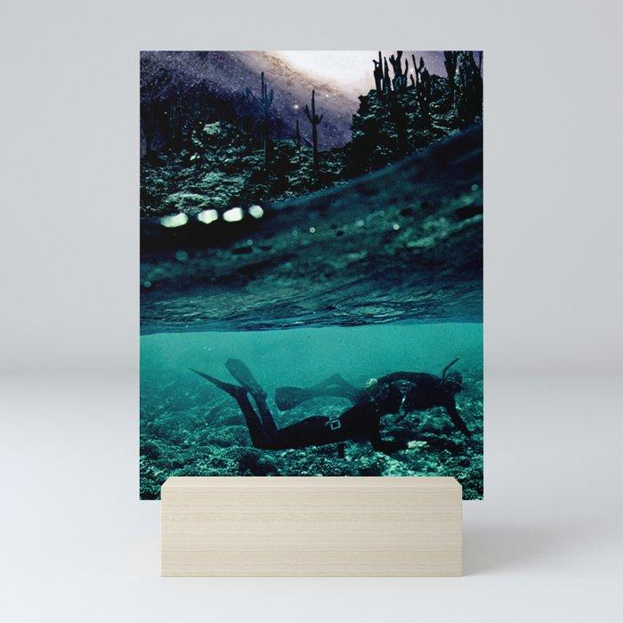 Diving in Deep Mini Art Print
