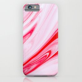 Red White Marble Texture iPhone Case