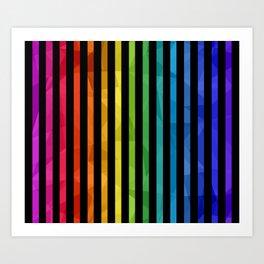 BLACK + RAINBOW Art Print