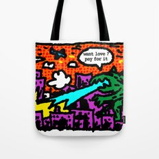 love is also a product Tote Bag
