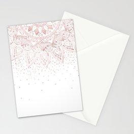 Elegant rose gold mandala confetti design Stationery Cards