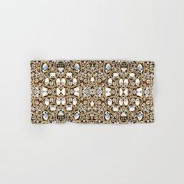 jewelry gemstone silver champagne gold crystal Hand & Bath Towel