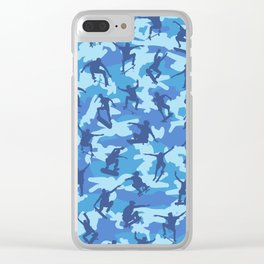 Skater Camo OCEAN Clear iPhone Case