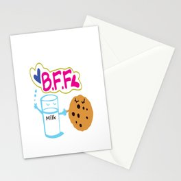Milk and Choco chip cookie BFF Stationery Cards