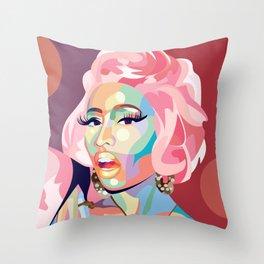 Nicki M Throw Pillow