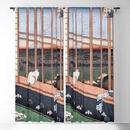 Hiroshige - Asakusa Ricefields and Torinomachi Festival, No. 101 from One Hundred Famous Views of Edo - Hiroshige Artwork Ukiyo-e Japanese Print Japanese Wall Art Edo Period Blackout Curtain