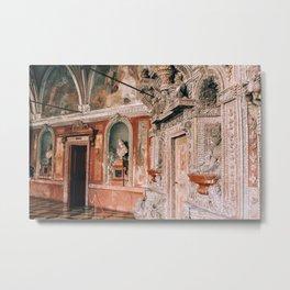 Decor of Shell Grotto Residenz Munich Metal Print