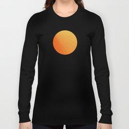 Shades of Sun - Line Gradient Pattern between Light Orange and Pale Orange Langarmshirt