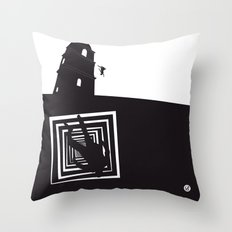 The Black Collection' Vertigo Throw Pillow