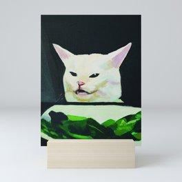 Salad Cat Meme Mini Art Print