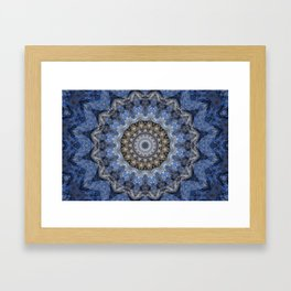 Blue Water Mandala Framed Art Print