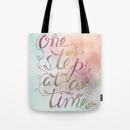 Motivational Art Print, Inspirational Quote Gift, Nature Typography Watercolor Quote, Mint Blush Art Tote Bag