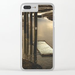 Washington Boat Launch Dock Clear iPhone Case