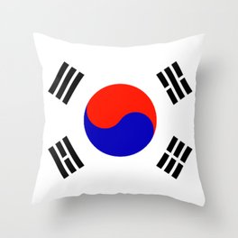 South Korean Flag Logo Throw Pillow