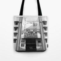 cinema Tote Bags featuring Cinema by Chris Meiklejohn