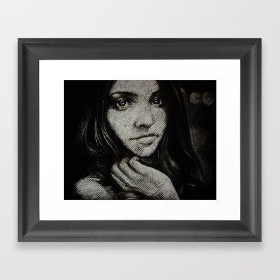 Charcoal experiment #5 Framed Art Print