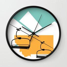 Skiing in Montana Wall Clock