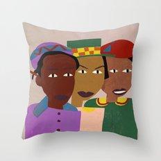 Three Friends Throw Pillow