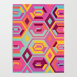 Abstract colorful pattern Poster