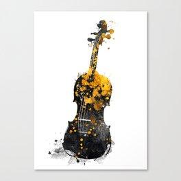Violin music art gold and black #violin #music Canvas Print