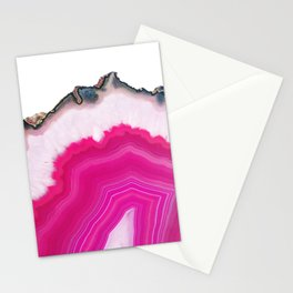 Pink Agate Slice Stationery Cards