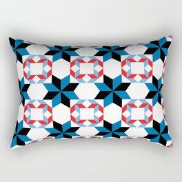 Blue Rhapsody - By  SewMoni Rectangular Pillow