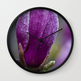 Magnolia Budding Wall Clock