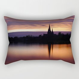 Sunset Reflection At The Lichfield Cathedral Rectangular Pillow