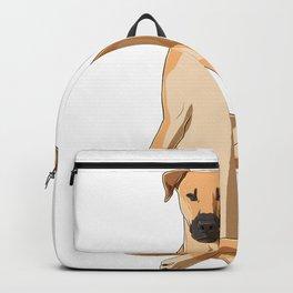 Black Mouth Cur Dog meditate Backpack