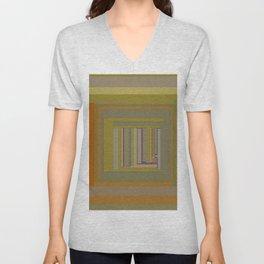 Anomaly in Brown Stripes graphic design Unisex V-Neck