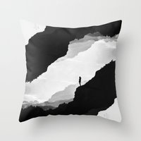 leaves Throw Pillows featuring White Isolation by Stoian Hitrov - Sto