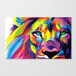 Colored Lion Canvas Print