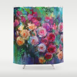 Tea Roses Shower Curtain