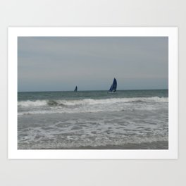 Great day for sailing! Art Print