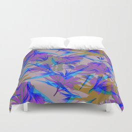 Bird of Paradise and Cosmos Duvet Cover