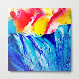 Fluid Ocean Metal Print