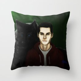 Little Red and Big Bad Throw Pillow